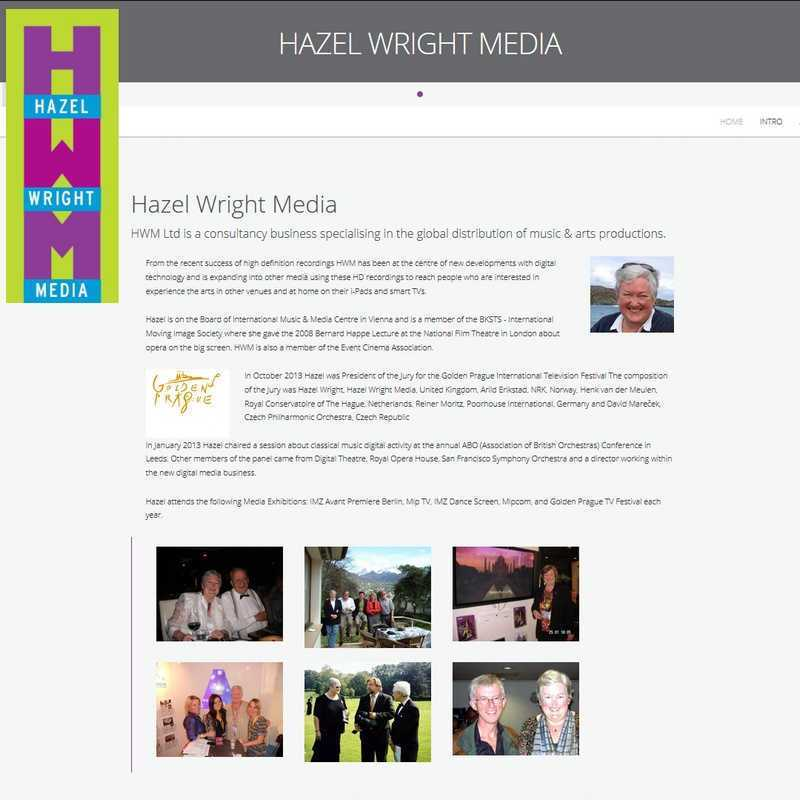 Website by Graphicz for Hazel Wright Media