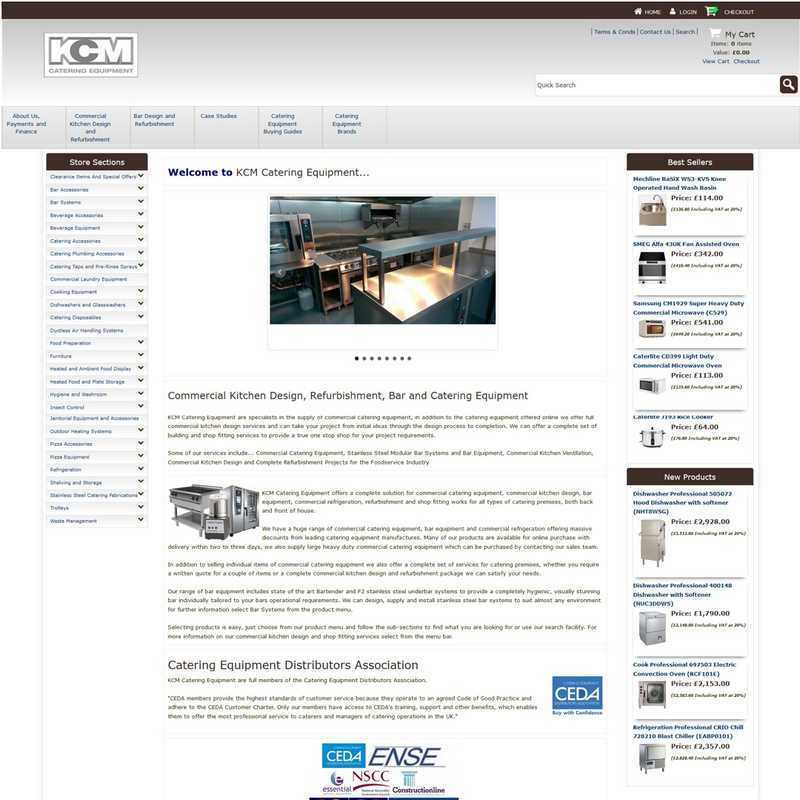 Website by Graphicz for KCM Catering Equipment