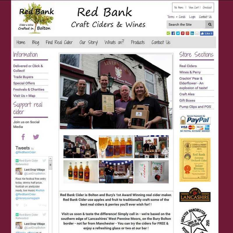 Website by Graphicz for Red Bank Cider