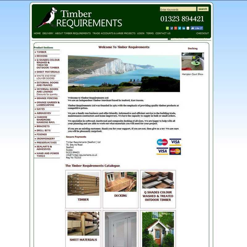Website by Graphicz for Timber Requirements